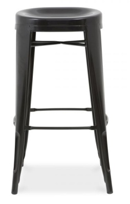 Xavier Pauchard High Stool With A Round Seat In Black