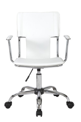 Allure White Leather Chair Rear View