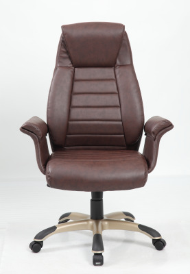Roberto Brown Leather Executive Chair Front View