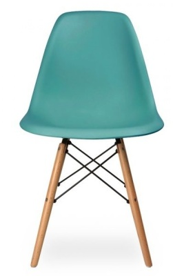 Dsw Chair In Teal Front View