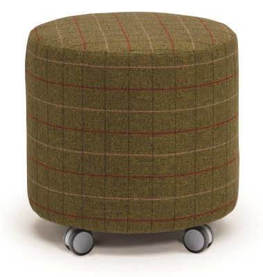 Mobile Roko Round Stool With Castors
