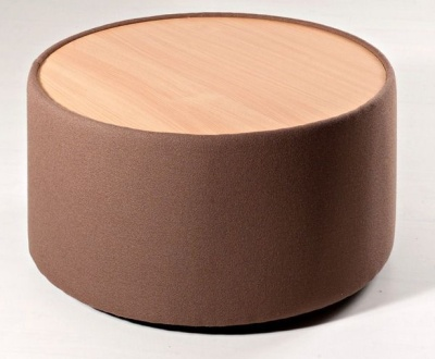 Roxy Round Upholstered Coffee Table