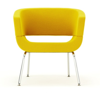 Lola Tub Chair In Yellow Front View