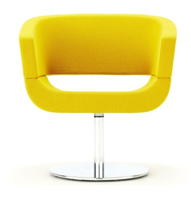 Lola Tub Chair With A Circular Base In Yellow