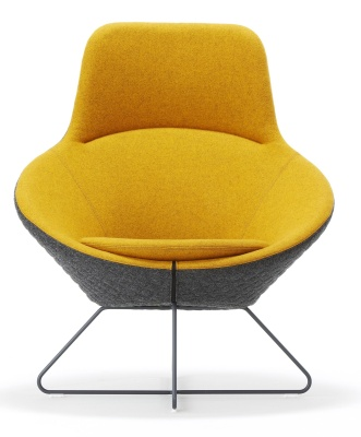 Conic Lounge Chair With Headrest Front View