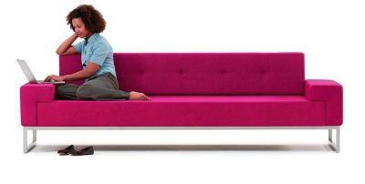 Hub Three Seater Sofa With Model