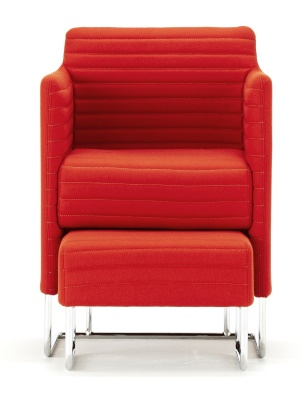 Tommo Club Chair With Footstool Front View