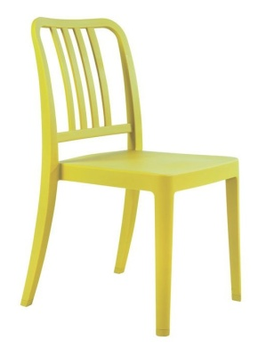 Navy Chair Lime Green
