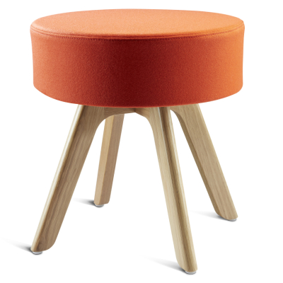 Bobo Low Stool With Oak Legs