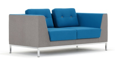 Octo Two Seater Sofa Front Angle