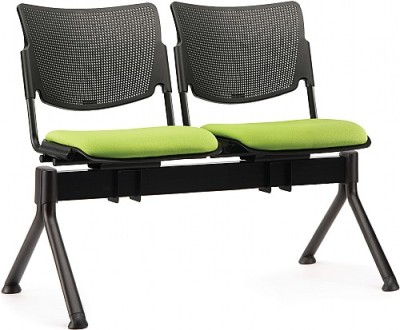 Mia Two Seater Beam Upholstered Seat