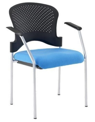 Sonata Chair With A Poly Chair Front Angle