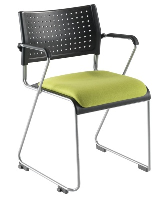 Vica Chair With A Cantilever Frame And Upholstered Seat