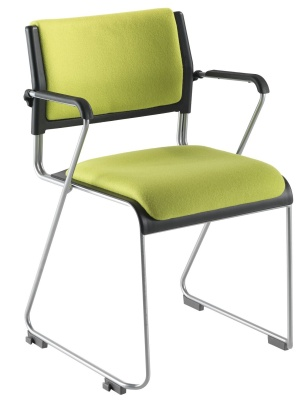 Vica Conference Chair With A Cantilever Frame And Upholstered Seat And Back