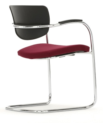 Contour Chair With A Upholstered Seat Reverse Angle