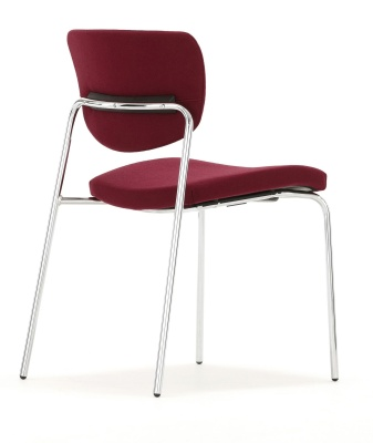 Contour Chair Fully Upholstered Four Leg Chair Rear Angle