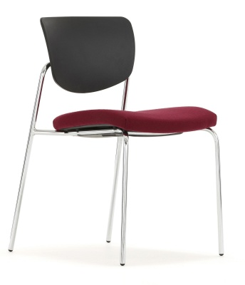 Contour Meeting Chair With Four Legs Front Angle