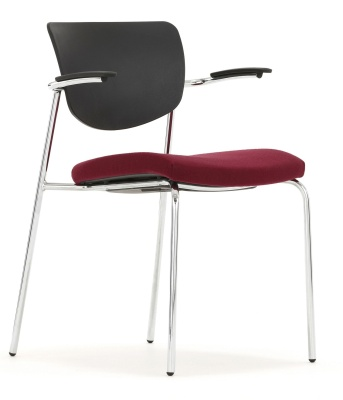 Contour Chair With Upholstered Seat And Short Arms