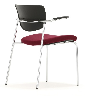 Contour Chair With Short Arms Rear View