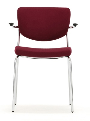 Contour Fully Upholstered Chair With Short Arms Front Facing