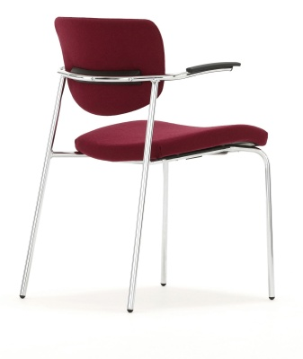 Contour Chair With Arms Fully Upholstered Rear Angle