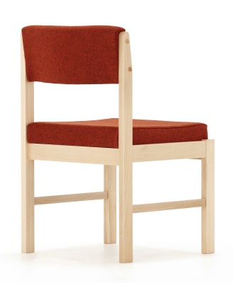 Consort Wooden Framed Side Chair Back Angle