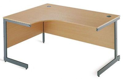 Maddellex Cantilever Left Hand Corner Desk In Beech