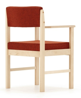 Consort Wooden Framed Archair Back Angle