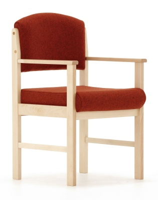 Consort V2 Wooden Armchair Front Angle