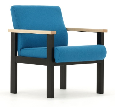 Stella Low Chair With Arms Front Angle