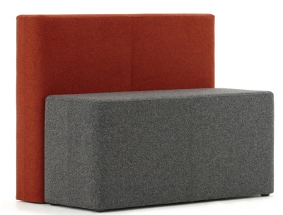 Brick Two Seater Sofa Front Angle