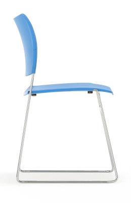 Elios Chair In Blue Side Angle