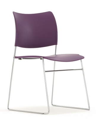 Elios Chair In Purple Front Angle