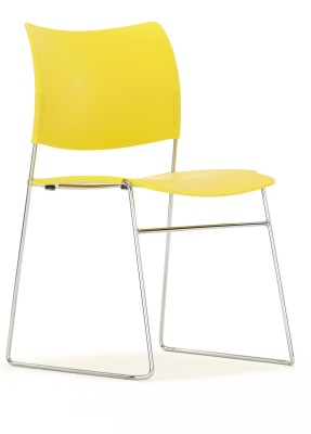 Elios Chair In Yellow Front Angle