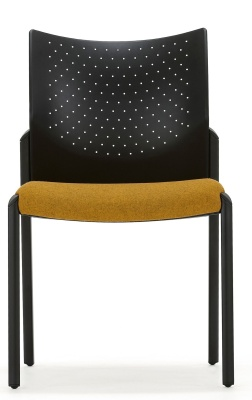 Trillipse Chair Four Leg Upholstered Seat Front Face