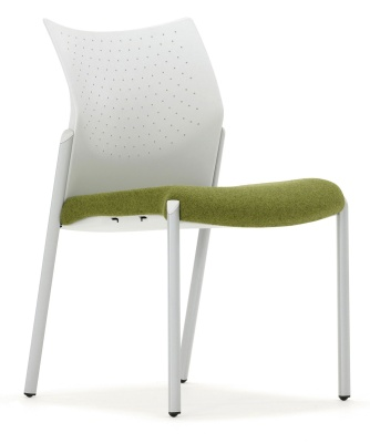 Trillipse Chair Upholstered Seat Grey Frame
