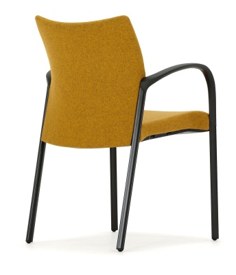 Trillipse Chair Fully Upholstered Black Frame Rear Angle View