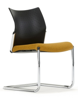 Trillipse Chair With A Cantilever Frame And Uphosltered Seat Front Angle