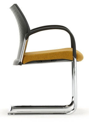 Trillipse Chair With Arms And An Upholstered Seat Side View