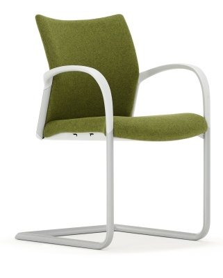 Trillipse Chair With A Silver Cantilever Frame And Arms