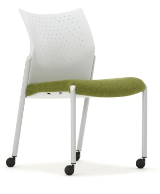 Trillipse Chair Mobile Upholstered Seat Ffront Angle