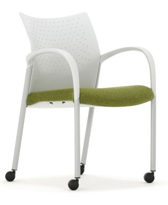 Trillipse Armchair With Arms And Upholstered Seat Front Angle