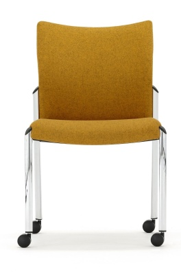 Trillipse Conference Chair Fully Upholstered With Castors Facing