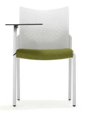 Trllipse Chair With A Writing Tablet Front View
