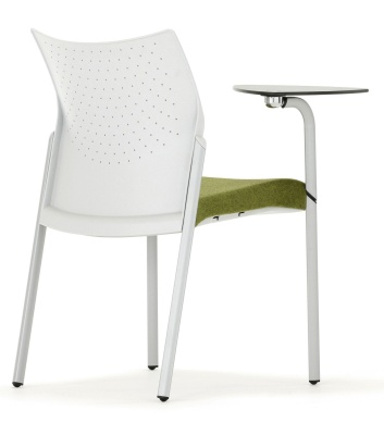 Trillipse Chair With A Writing Table Rear Angle