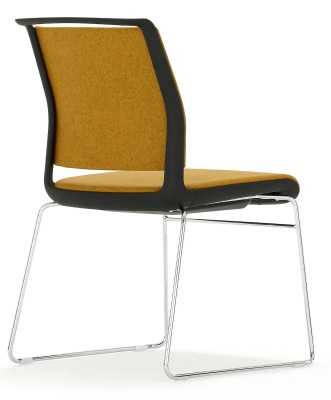 Ad Lib Fully Upholstered Conference Chair Rear Angle