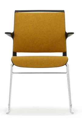 Ad Lib Fully Upholstered Conference Chair With Arms Fronnt Face Shot