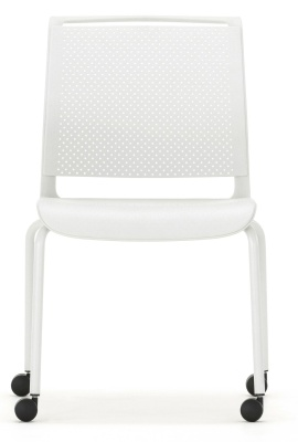 Ad Lib Mobile Chair Light Grey Shell Front Shot