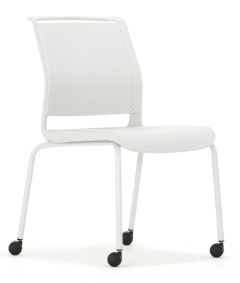 Adlib Mobile Conference Chair Fron Angle Leight Grey Frame And Shell