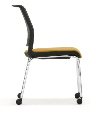 Adlib Mobile Chair With An Upholstered Seat Side View
